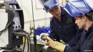 Apprentice receiving instruction