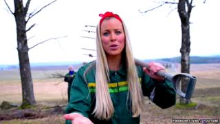 Norwegian girl sings about farming in the country