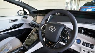Interior of a Toyota car (generic image)