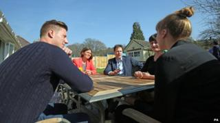 Nick Clegg talks to young people