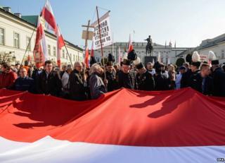Crash anniversary ceremony, Warsaw, 10 Apr 15