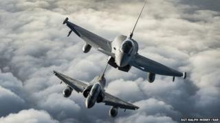 Typhoon and Mirage jets