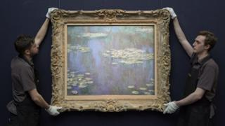 Monet's Water Lilies on show ahead of New York auction