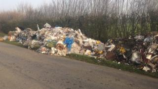 Walsham-le-Willows fly tipping