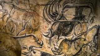 Copies of Chauvet cave art