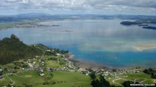 Whangarei Harbour from the summit of Mt Manaia
