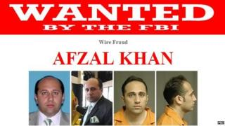 Wanted poster for Afzal Khan