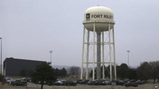 Authorities say Mr Booker attempted to attack Fort Riley in Kansas
