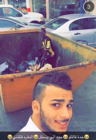 A Saudi man found himself on the receiving end of a torrent of online abuse after posting this photo on Snapchat.