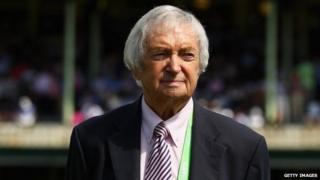 Richie Benaud at Sydney Cricket Ground - January 2013