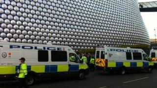 Birmingham city centre on Saturday