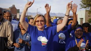 South African opposition leader Hellen Zille on 6 May, 2014