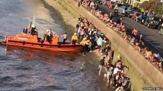 RNLI rescue Boat Race spectators
