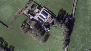 Camp Farm from above