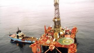 Oil rig off Falkland Islands