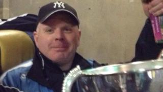 Sean McElwee, one of three people killed on County Tyrone's roads at the weekend, pictured holding the All-Ireland Intermediate Club Football Championship trophy in 2013