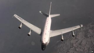 A US RC-135 Rivet Joint aircraft (file picture)