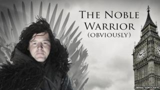 Nick Clegg as Jon Snow from Game of Thrones