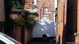 forensics tent
