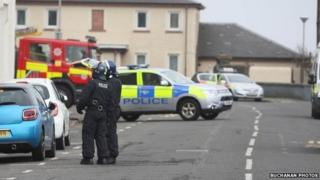 Police at incident in Princes Street, Ardrossan
