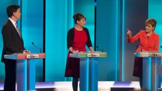 Wd Miliband, Leanne wood and Nicola Sturgeon