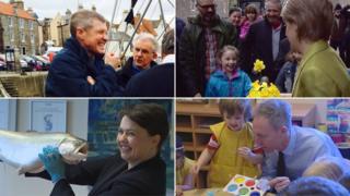 Willie Rennie, Nicola Sturgeon, Ruth Davidson and Jim Murphy