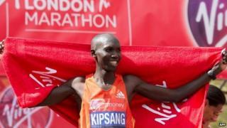 Kenyan athlete Wilson Kipsang in 2012