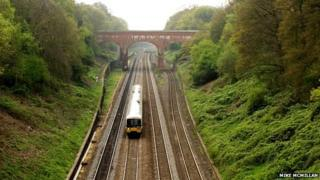 Train at Sonning Cutting