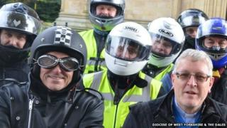 Motorbiking vicars from the Diocese of West Yorkshire and the Dales