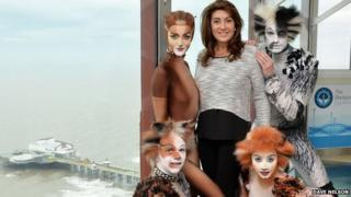 Jane McDonald with some of the cast