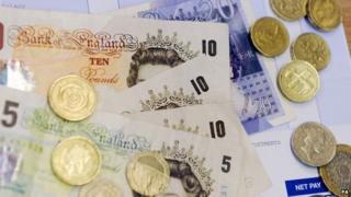 Sterling cash on payslip