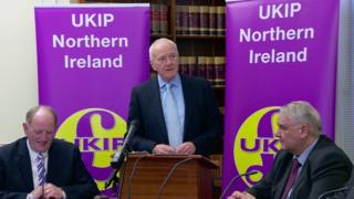 David McNarry launched UKIP's Northern Ireland manifesto in Stormont's Parliament Buildings