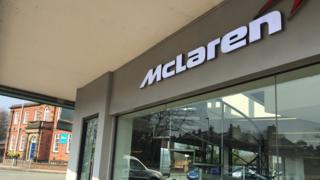 Knutsford's McLaren showroom.