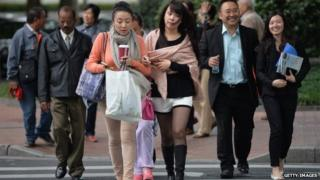 Chinese shoppers