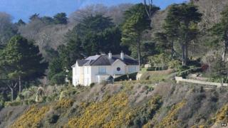 The mansion is on Vico Road, Killiney, one of the most prestigious addresses in Ireland
