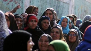 Women in Egypt wearing headscarves