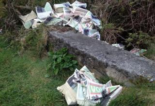 Election leaflets found dumped in Gwynedd