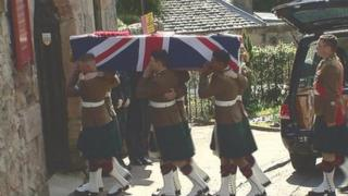 Shaun Cole's funeral