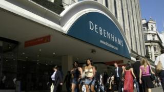 Debenhams store in Central London