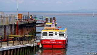 Wyre estuary ferry at Fleetwood