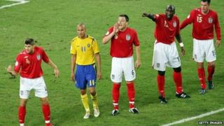 Sweden v England at the 2006 World Cup in Germany