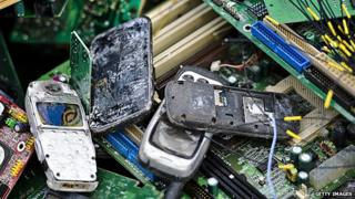 Old phones and other electronic waste