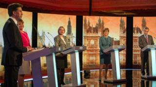 Line-up for the BBC election debate