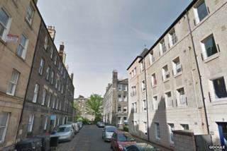 Kirk Street in Edinburgh where the assault took place