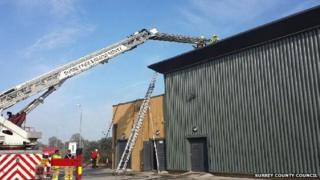 Fire at Cobham Services