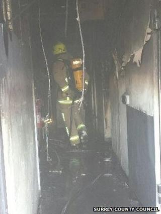 Cobham Services fire
