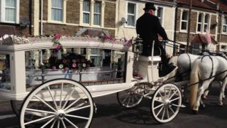Becky Watts' funeral