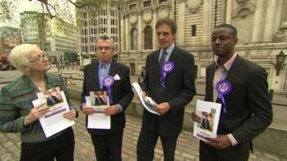Christian People's Alliance leaders at the launch of their manifesto in Westminster