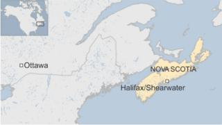 Map showing where Shearwater is