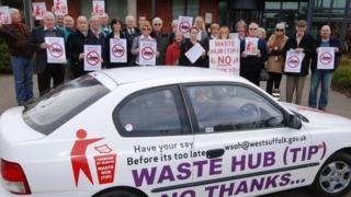 Bury St Edmunds West Suffolk Operational Hub protest